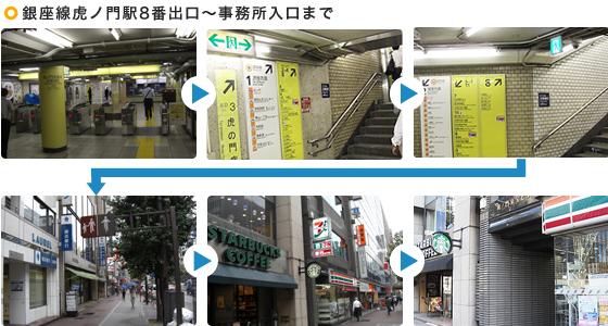 虎ノ門8番からのアクセス